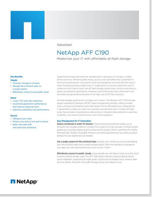 netapp fact sheet c190